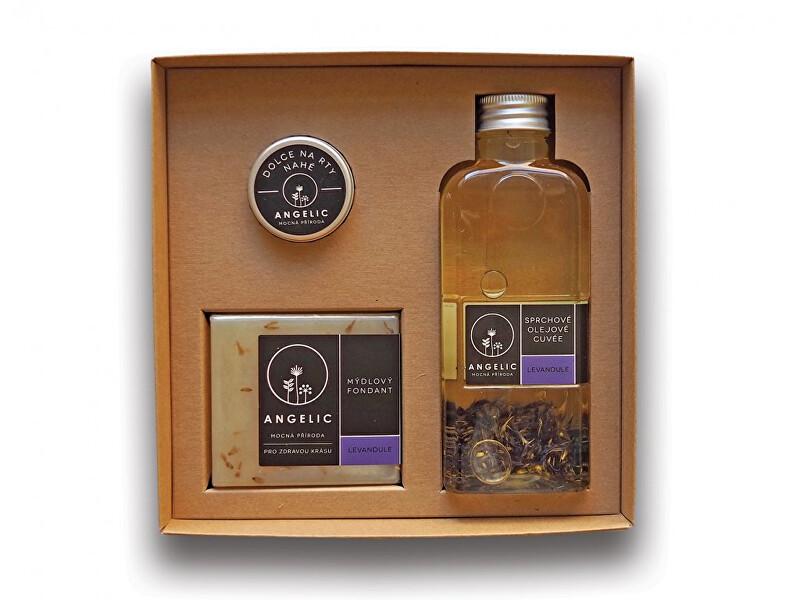 Dárková krabička Angelic sprchové olejové cuveé Levandule