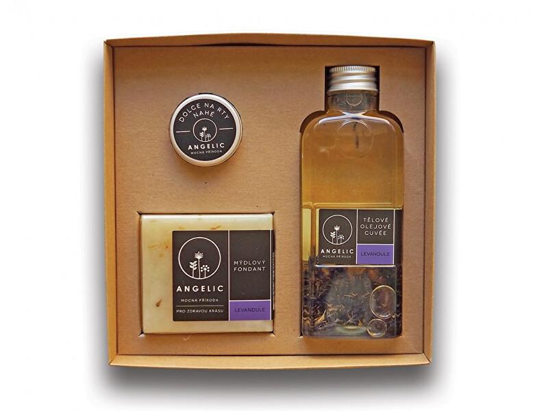Angelic Dárková krabička Angelic tělové olejové cuvée Levandule