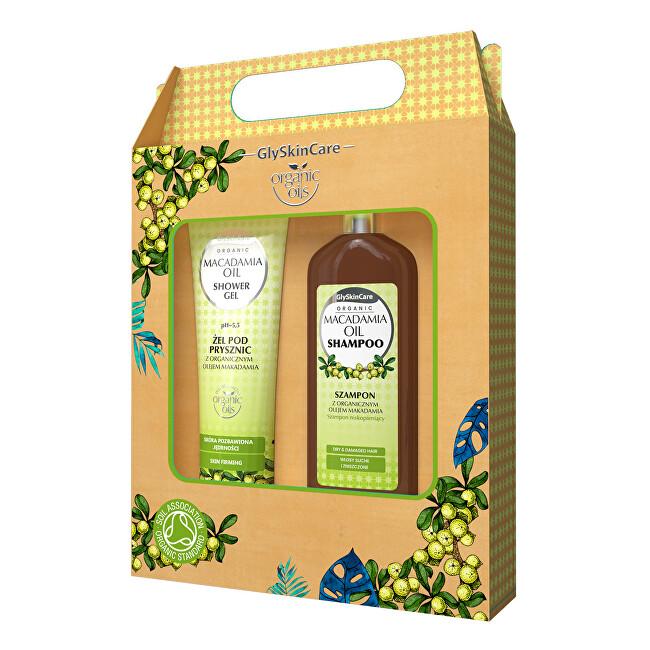 Dárková sada pro každodenní péči s makadamovým olejem šampon + sprchový gel 2 x 250 ml