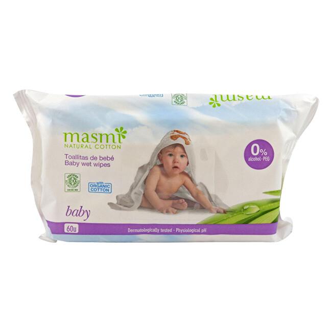 Dětské vlhčené ubrousky z organické bavlny 60 ks