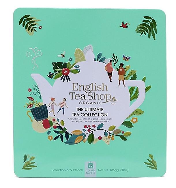 Zobrazit detail výrobku English Tea Shop Dárková sada The ultimate BIO v plechové kazetě 72 sáčků - 9 příchutí, zelená