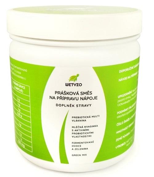 Zobrazit detail výrobku Wetyzo PREBIOTICKÁ MULTI VLÁKNINA s novou generací probiotik K-B0399®, přírodními prebiotiky, a Green mixem 432 g