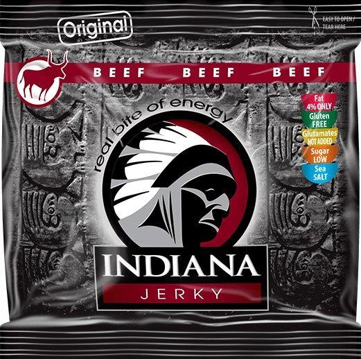 Zobrazit detail výrobku Indiana Indiana Jerky beef (hovězí) Original 60 g