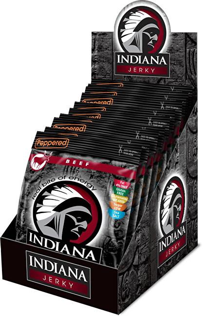 Zobrazit detail výrobku Indiana Indiana Jerky beef (hovězí) Peppered 250 g - display