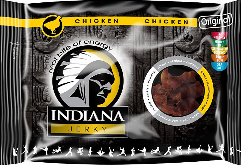 Zobrazit detail výrobku Indiana Indiana Jerky chicken (kuřecí) Original 100g