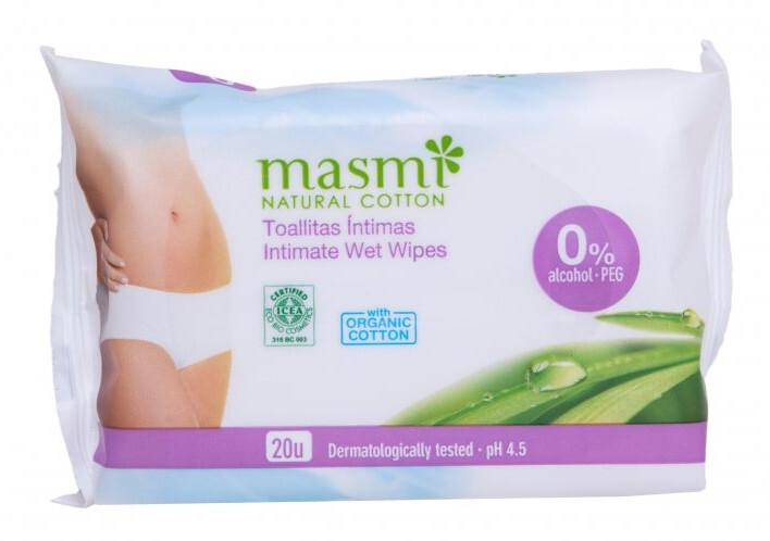 Intimní vlhčené ubrousky z organické bavlny 20 ks