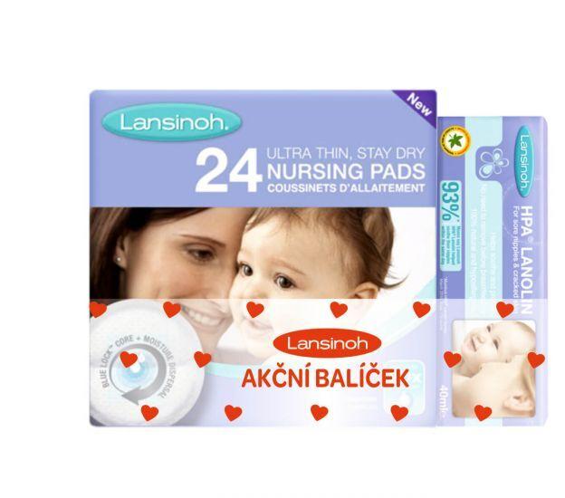 Zobrazit detail výrobku Lansinoh Lansinoh COMBI PACK HPA lanolin 40 ml & vložky do podprsenky 24 ks