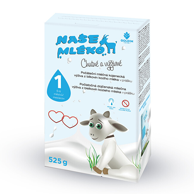 Zobrazit detail výrobku Goldim Naše mléko - 1 počát. výživa z kozího mléka 0-6m 525 g