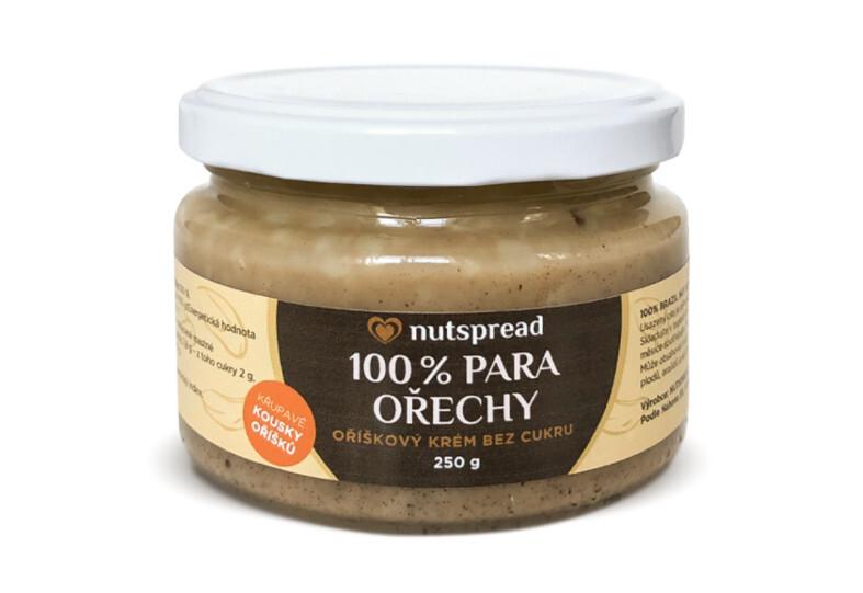 Nutspread 100% Krém z para ořechů 250 g - SLEVA KRÁTKÁ EXPIRACE 20.1.2022