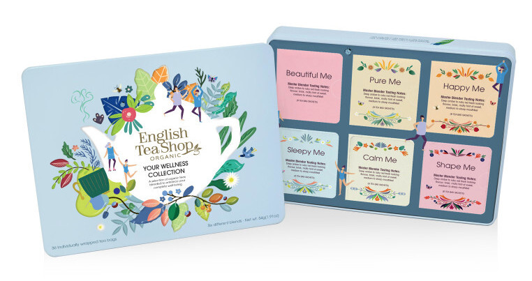 Zobrazit detail výrobku English Tea Shop Plechová kazeta wellness bio 36 nál. sáčků