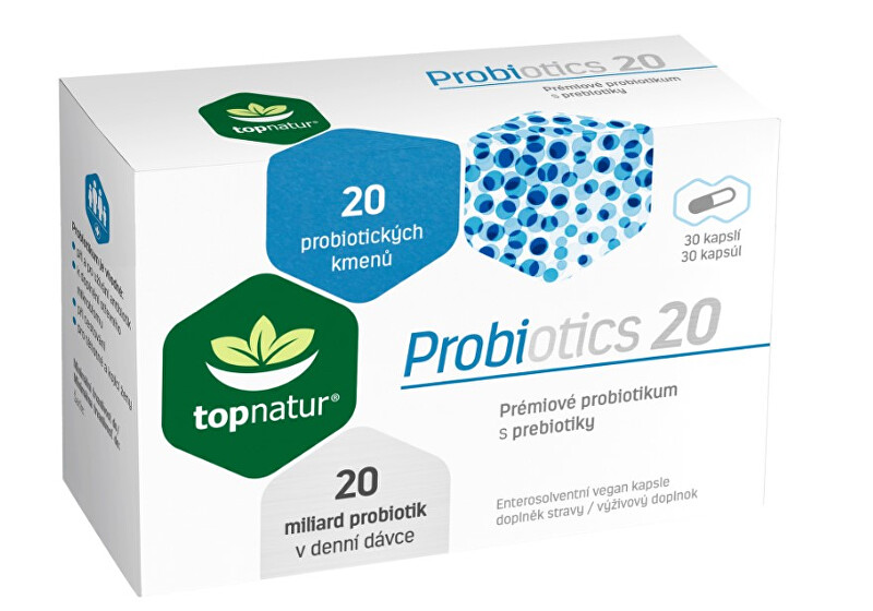 Zobrazit detail výrobku Topnatur Probiotics 20 Topnatur - 30 kapslí