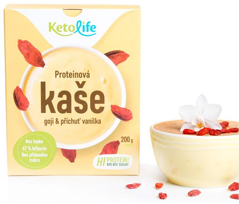 Zobrazit detail výrobku KetoLife Proteinová kaše - Goji a příchuť vanilka 5 x 40 g