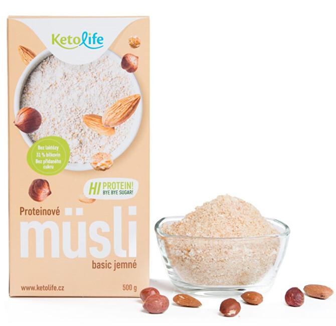 Zobrazit detail výrobku KetoLife Proteinové müsli - Basic jemné 500 g