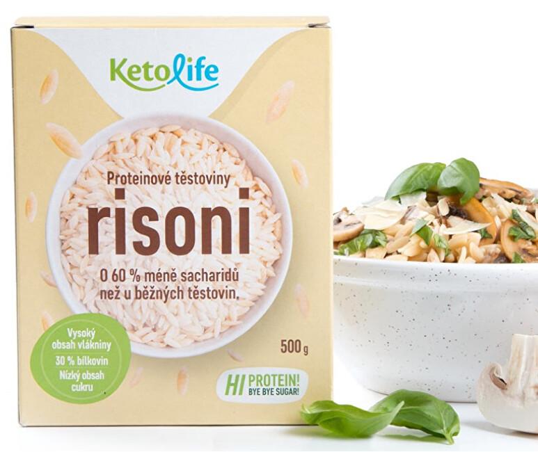 Zobrazit detail výrobku KetoLife Proteinové těstoviny - Risoni 500 g
