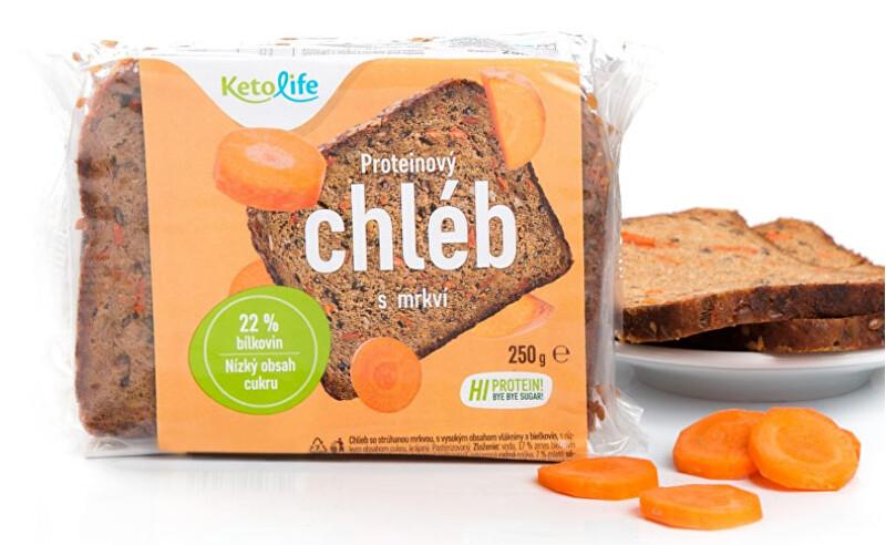 Zobrazit detail výrobku KetoLife Proteinový chléb - S mrkví 250 g