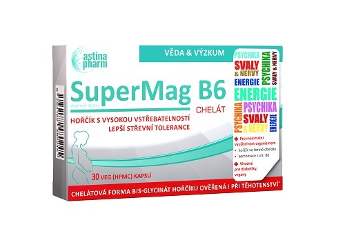 Zobrazit detail výrobku Astina SuperMag B6 chelát, 30 tablet