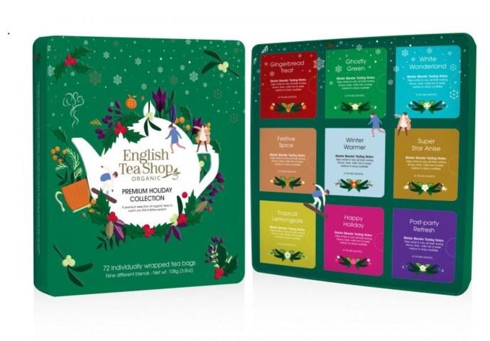 Zobrazit detail výrobku English Tea Shop Dárková sada čajů BIO v plechové kazetě 72 sáčků - 9 příchutí, zelená