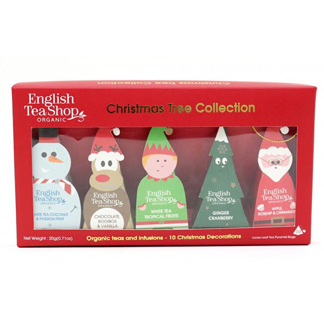 Vánoční stromek - kolekce 10 pyramidek, 5 příchutí