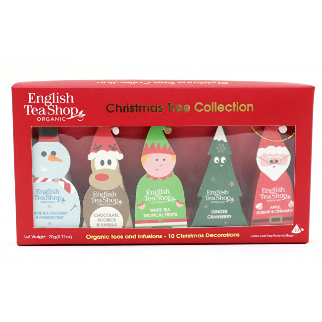 Zobrazit detail výrobku English Tea Shop Čajová dárková sada Vánočních figurek na stromeček BIO 10 pyramidek