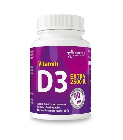 Zobrazit detail výrobku Nutricius Vitamín D3 EXTRA 2500 IU 90 tablet