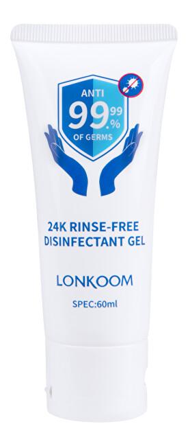 Levně 24K Čistící bezoplachový gel na ruce s antibakteriální přísadou 60 ml