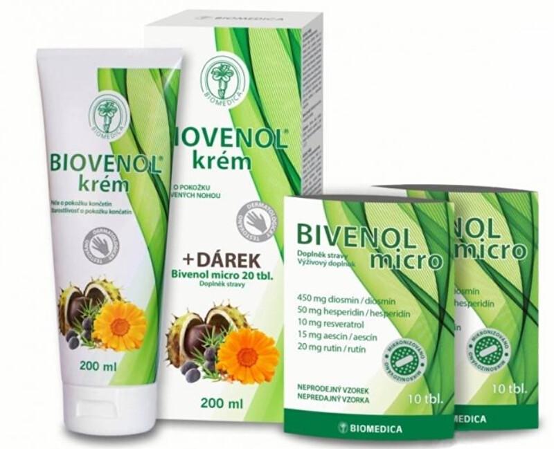 Zobrazit detail výrobku Biomedica Biovenol krém 200 ml + Bivenol micro 20 tablet