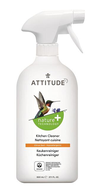 Zobrazit detail výrobku Attitude Čistič na kuchyně Nature+ s vůní citronové kůry s rozprašovačem 475 ml