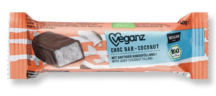 Zobrazit detail výrobku Veganz Čokoládová tyčinka s kokosem, Bio 40 g