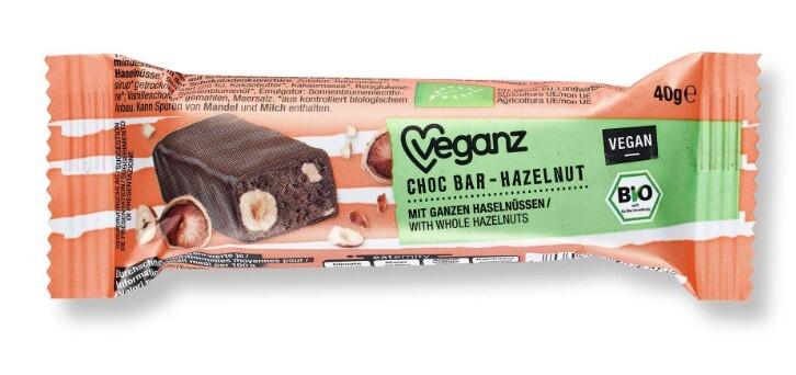 Zobrazit detail výrobku Veganz Čokoládová tyčinka s nugátem, Bio 40 g