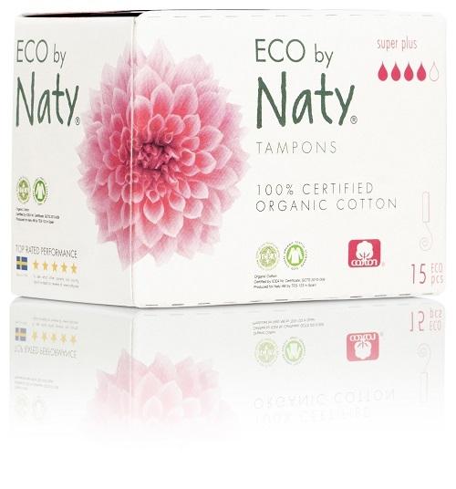 Zobrazit detail výrobku Eco by Naty Dámské ECO tampóny Naty (15 ks) - super plus