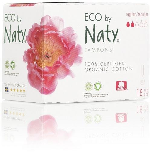 Zobrazit detail výrobku Eco by Naty Dámské ECO tampóny Naty (18 ks) - regular
