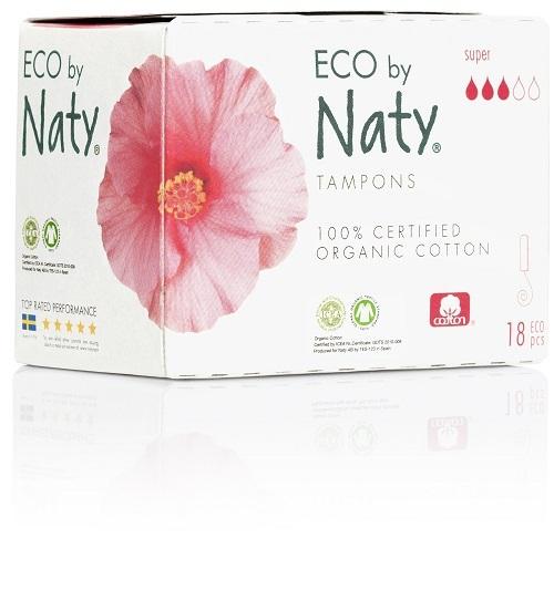Zobrazit detail výrobku Eco by Naty Dámské ECO tampóny Naty (18 ks) - super