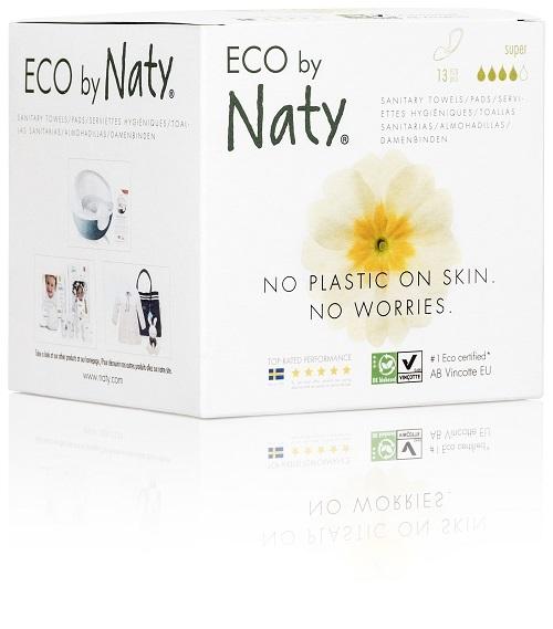 Zobrazit detail výrobku Eco by Naty Dámské ECO vložky Naty (13 ks) - super