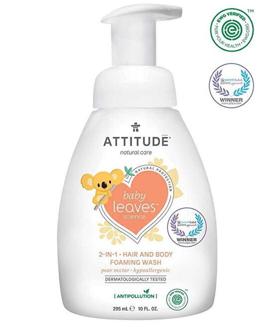 Zobrazit detail výrobku ATTITUDE Dětská mycí pěna  (2 v 1) ATTITUDE Baby leaves s vůní hruškové šťávy 295 ml