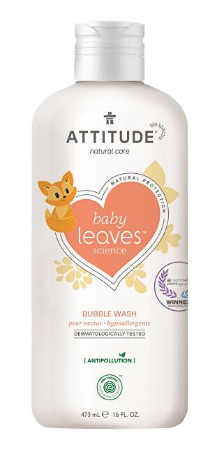 Dětská pěna do koupele Baby Leaves s vůní hruškové šťávy 473 ml