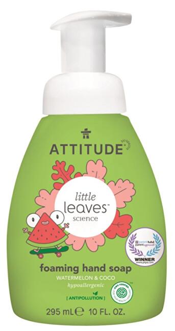 Dětské pěnivé mýdlo na ruce Little Leaves s vůní melounu a kokosu 295 ml