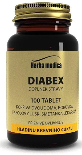 Zobrazit detail výrobku HerbaMedica Diabex 50g -  hladina krevniho cukru 100 tablet