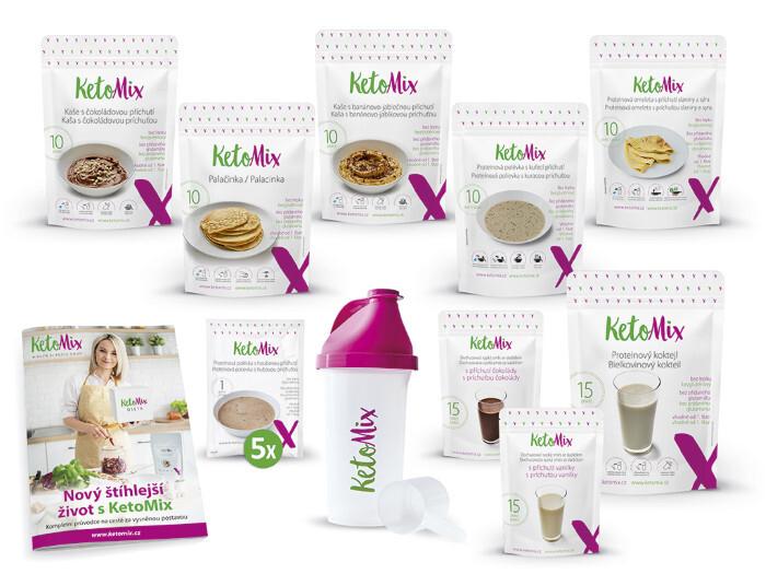 Zobrazit detail výrobku KetoMix Ketonová dieta na 2 týdny (70 porcí) 2 620 g