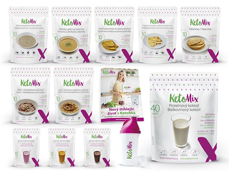 Zobrazit detail výrobku KetoMix Ketonová dieta na 3 týdny (110 porcí) 3 840 g
