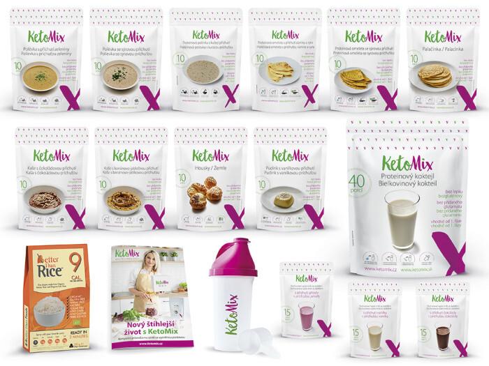 Zobrazit detail výrobku KetoMix Ketonová dieta na 4 týdny (140 porcí) 5 510 g