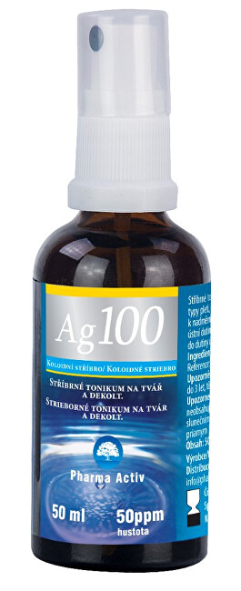 Zobrazit detail výrobku Pharma Activ Koloidní stříbro Ag100 (50ppm) 50ml SPRAY