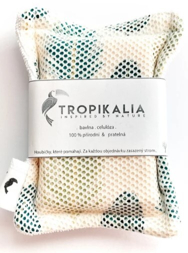 Zobrazit detail výrobku Tropikalia Kompostovatelná bavlněná houbička s přírodní celolózou (mini)