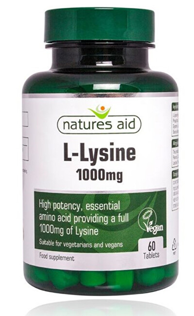 Zobrazit detail výrobku Natures Aid L-Lysín 1000 mg - 60 tablet