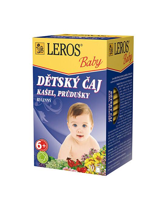 LEROS Baby Dětský čaj Kašel, průdušky 20 x 1.5 g