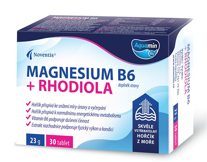 Zobrazit detail výrobku Noventis Magnesium B6 + Rhodiola 30 tablet