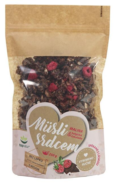 Müsli srdcem Malina & Belgická čokoláda 250 g