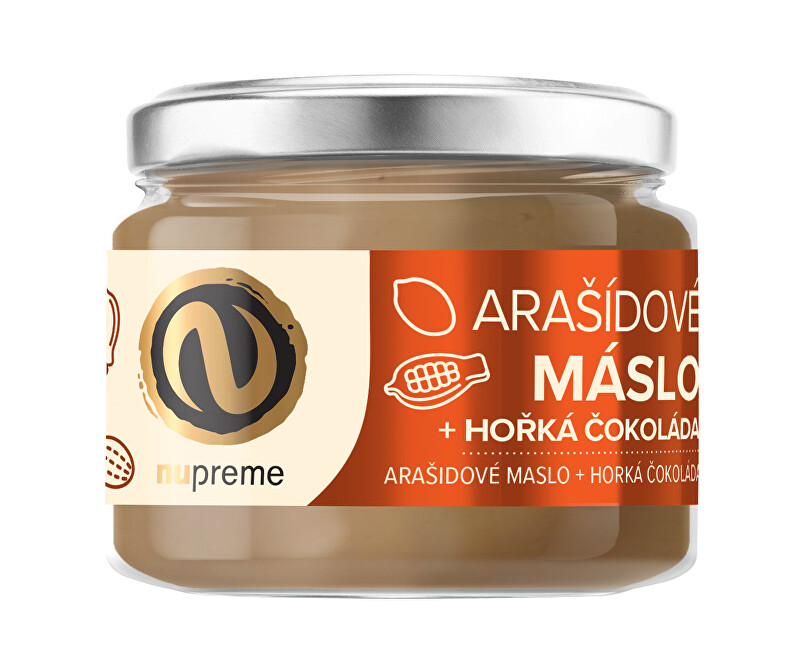 Zobrazit detail výrobku Nupreme Nupreme Arašídové máslo s hořkou čokoládou 220 g