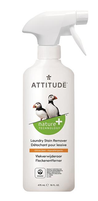 Zobrazit detail výrobku ATTITUDE Nature+ Odstraňovač skvrn ATTITUDE s vůní citronové kůry s rozprašovačem 475 ml