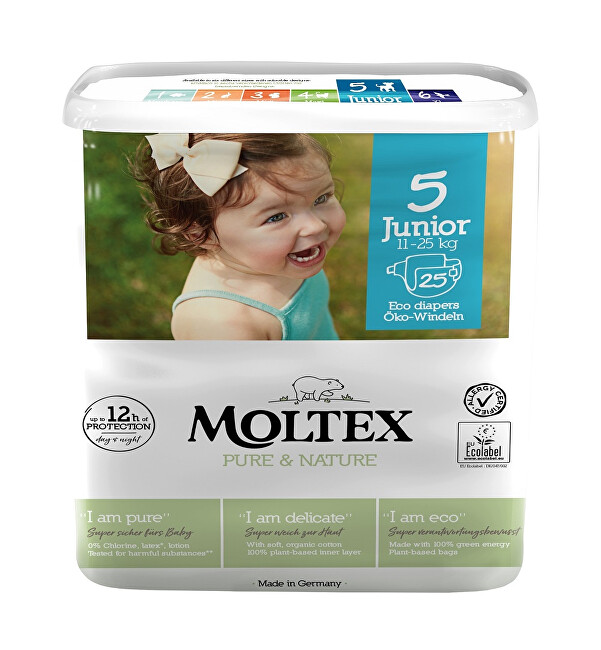 Moltex Pure  Nature Plenky Moltex Pure  Nature Junior 11-25 kg (25 ks)