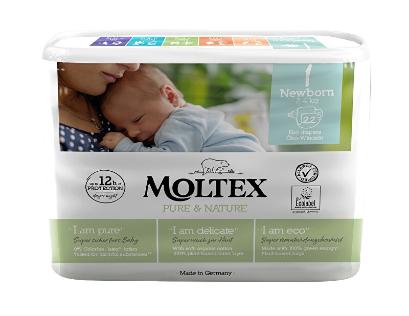 Moltex Pure  Nature Plenky Moltex Pure  Nature Newborn 2-4 kg (22 ks)
